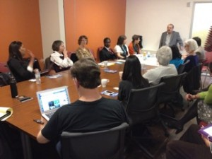 Tony Jimenez teaches the ICR about creativity processes. Photo by Jeff Rader.